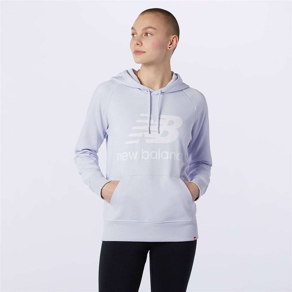 New Balance - W Essentials Stacked Logo PO Hoodie - silent grey