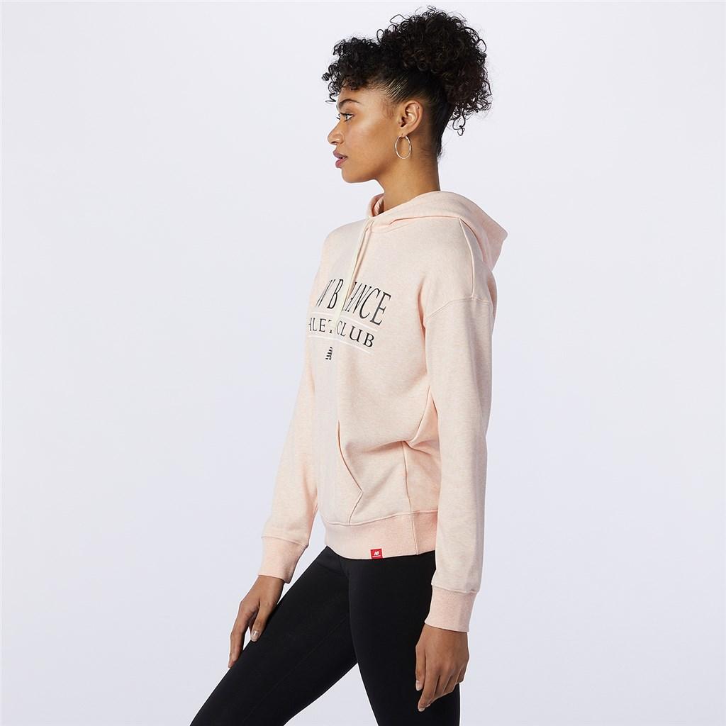New Balance - W NB Essentials Athletic Club Hoodie - oyster pink heather