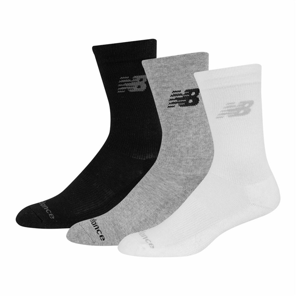 New Balance - NB PF Cotton Cushioned Crew Socks 3 Pair - white multi