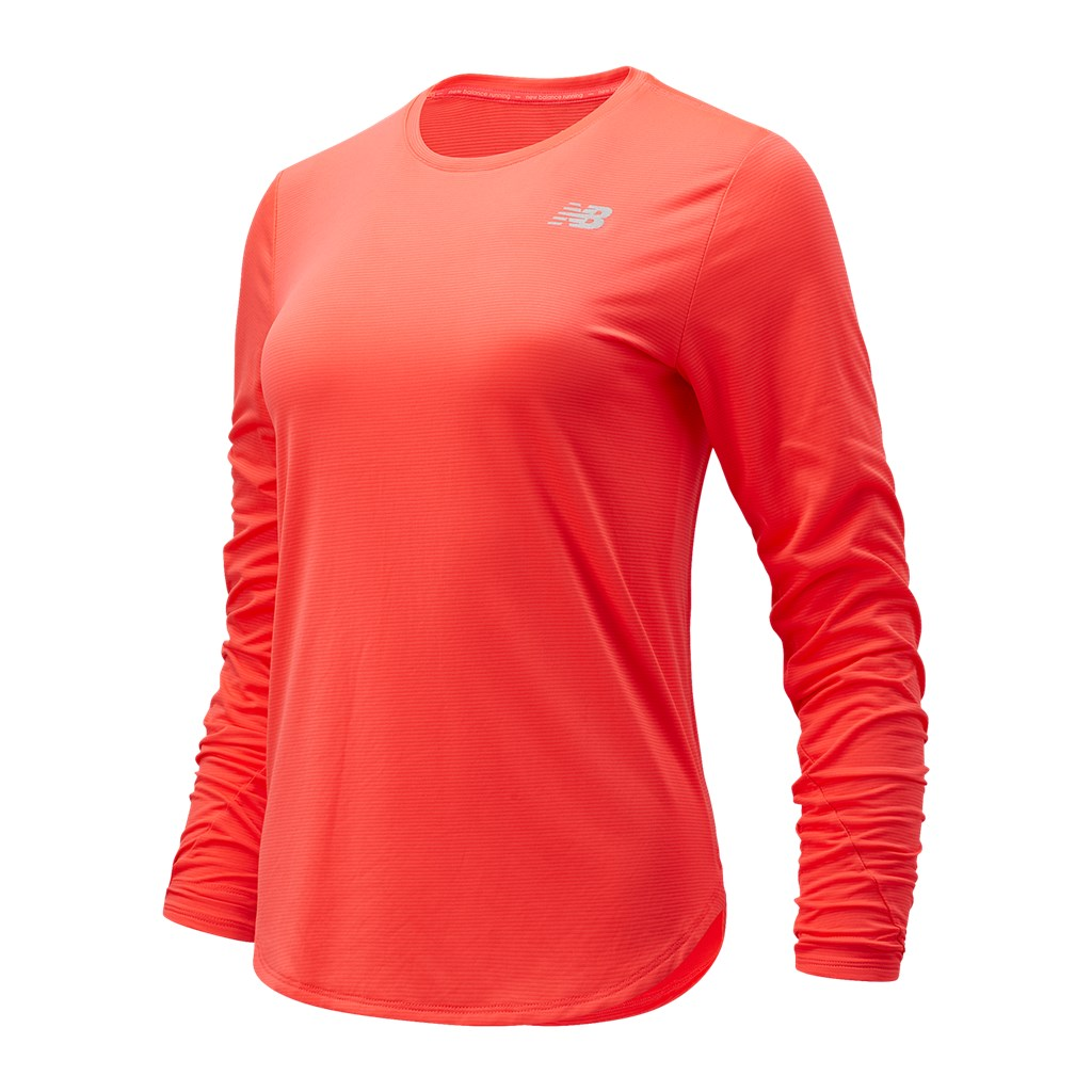 New Balance - W Accelerate Long Sleeve - vivid coral