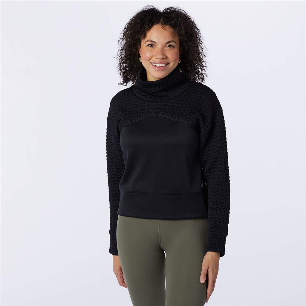 New Balance - W NBHeat Loft Pullover - black