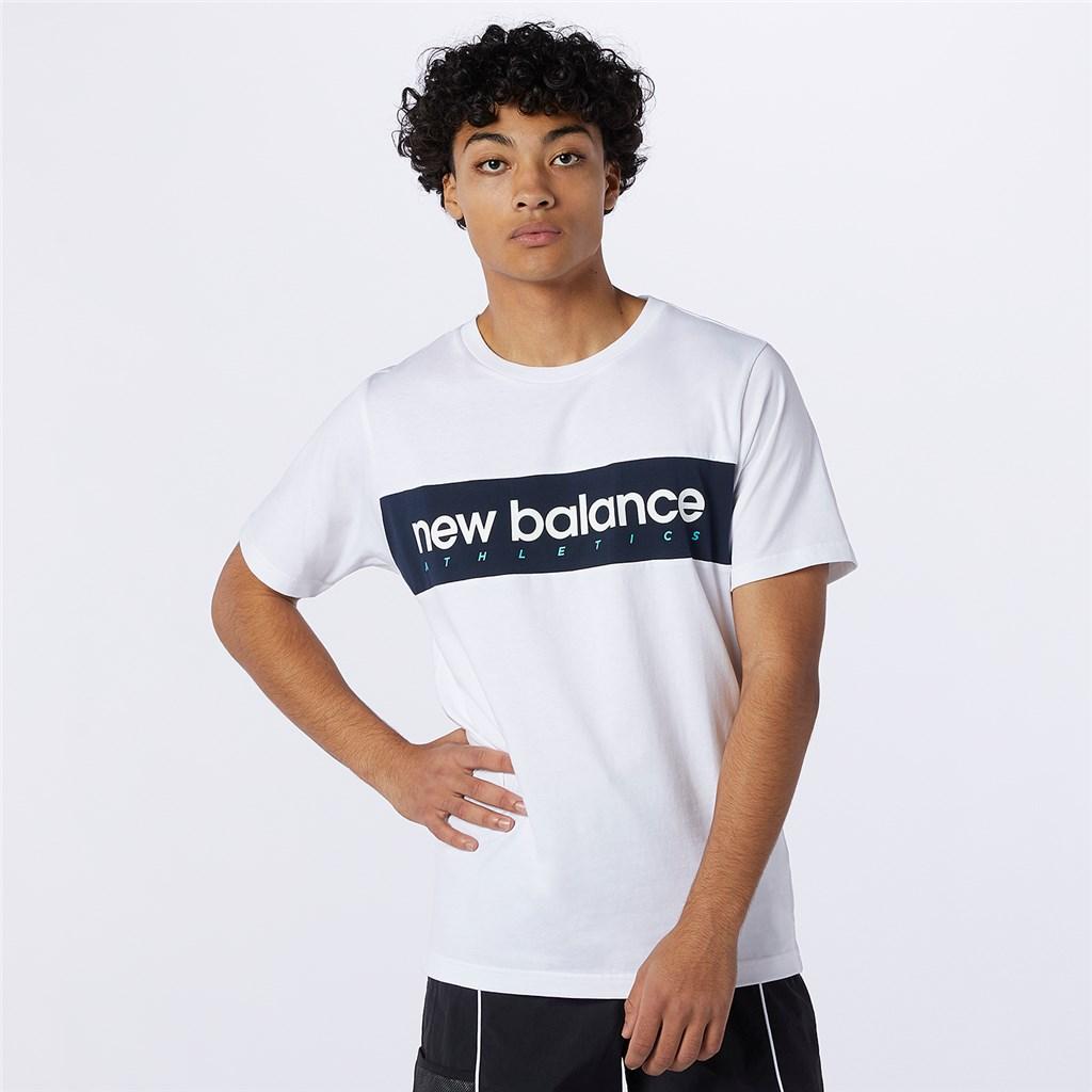 New Balance - NB Athletics Linear NB Tee - white