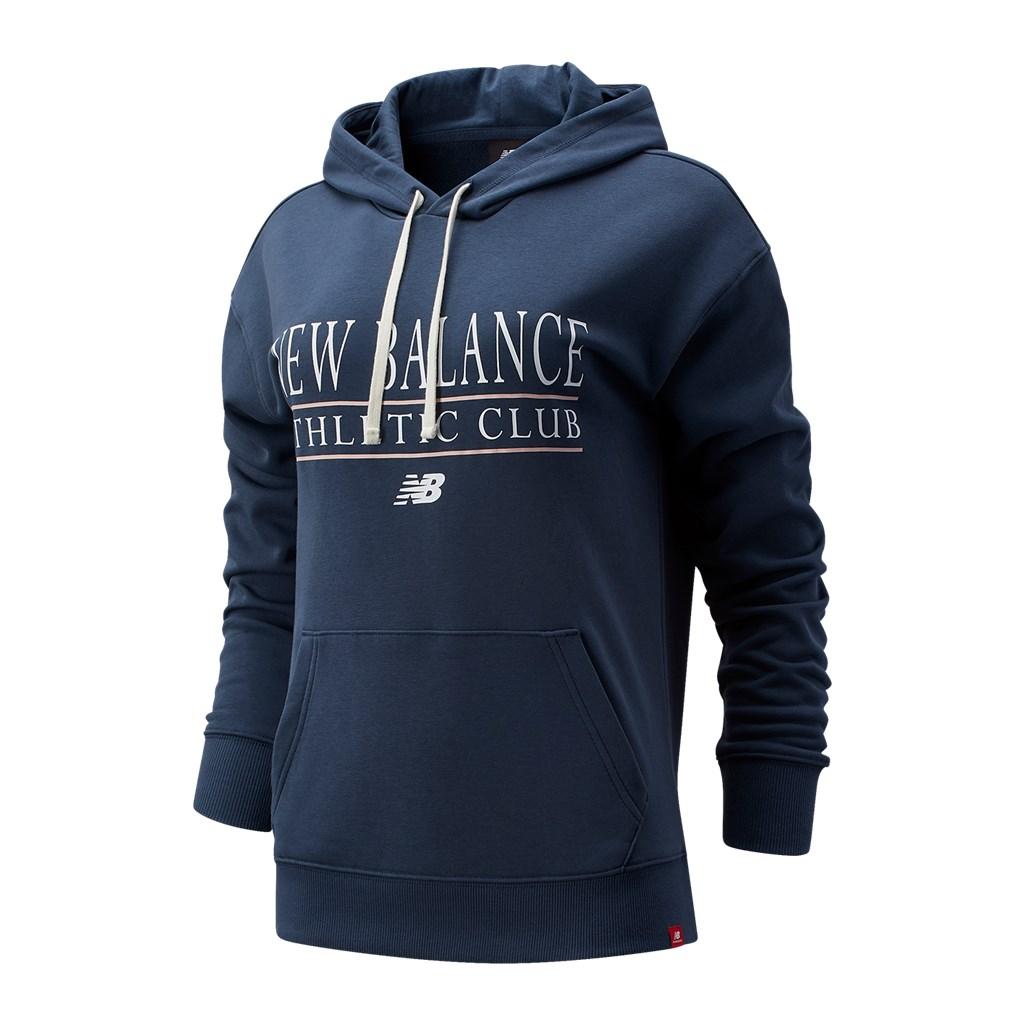 New Balance - W NB Essentials Athletic Club Hoodie - deep ocean grey