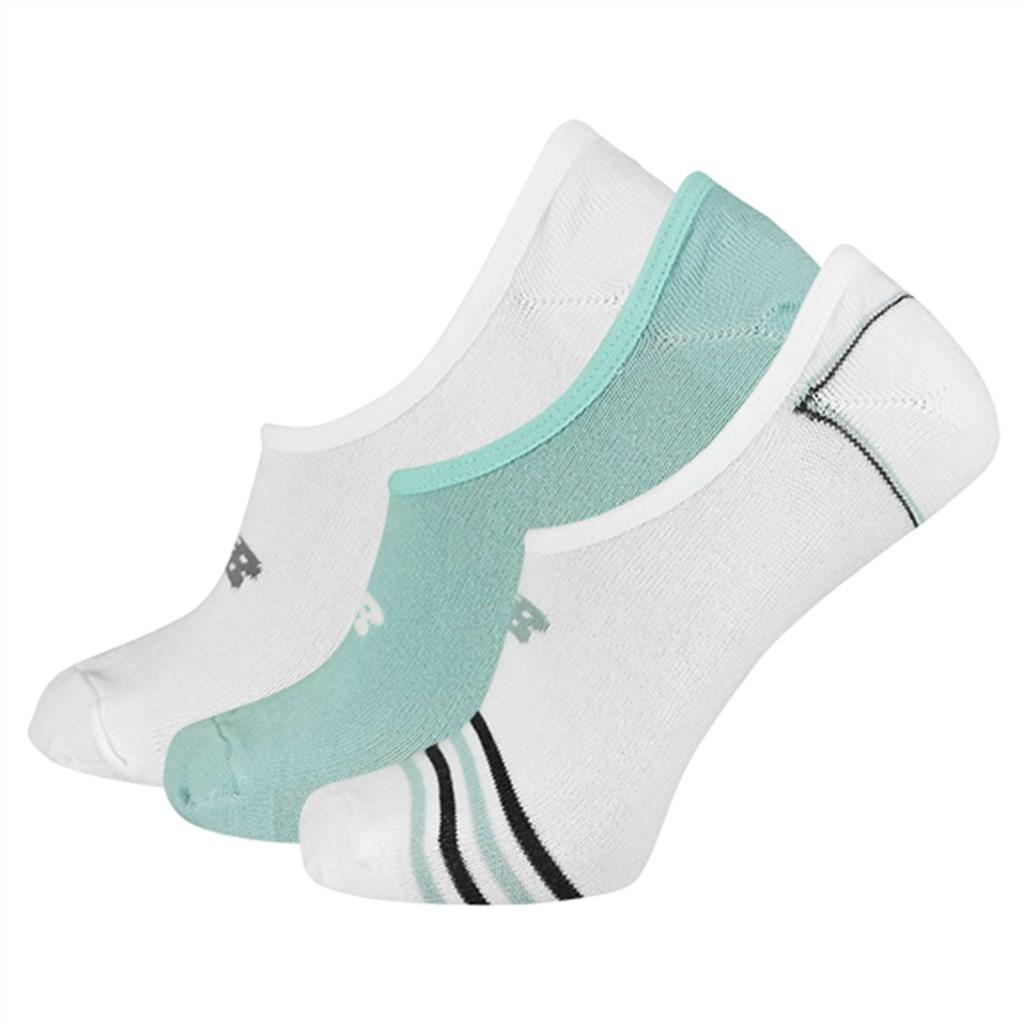 New Balance - NB Unisex Ultra Low No Show Sock 3 Pair - white