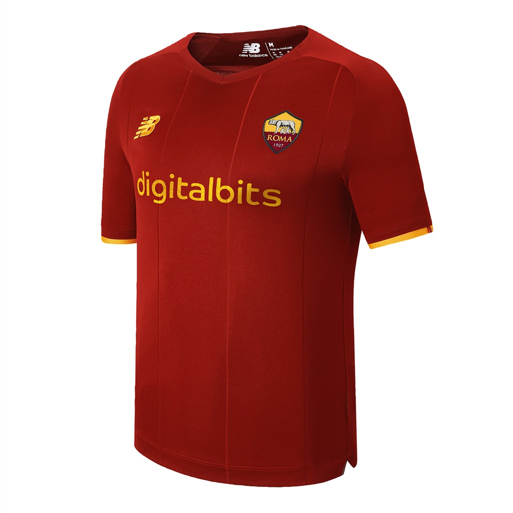 New Balance - AS Roma Home Junior SS Jersey 21/22 - home
