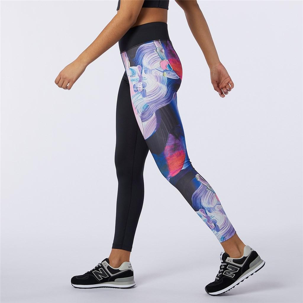 New Balance - W NB Athletics Erin Loree Legging - black/multi color print