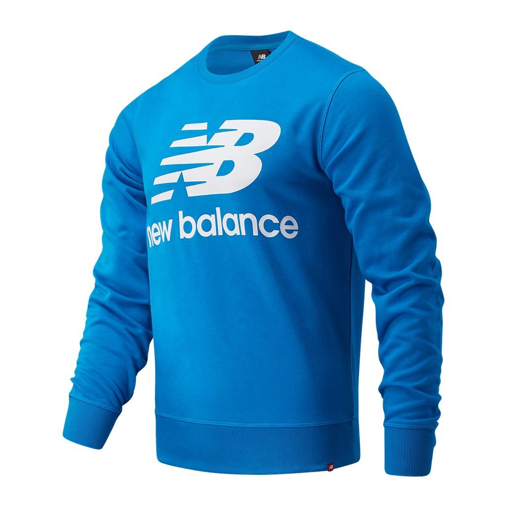 New Balance - Essentials Stacked Logo Crew - wave blue