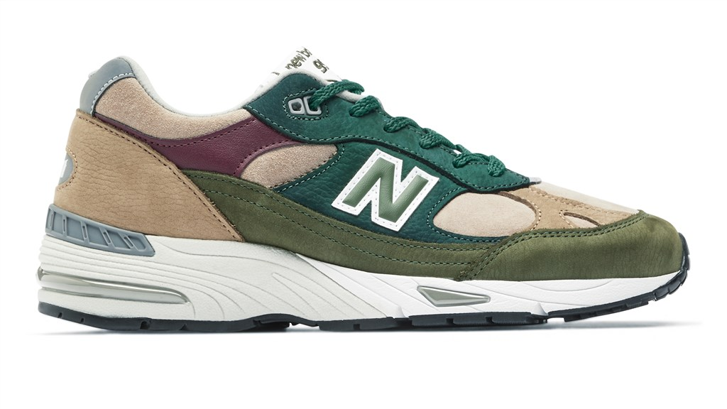 New Balance - M991NTG - green/red