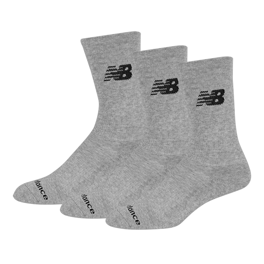 New Balance - NB Crew Flat Knit 3-Pack - grey