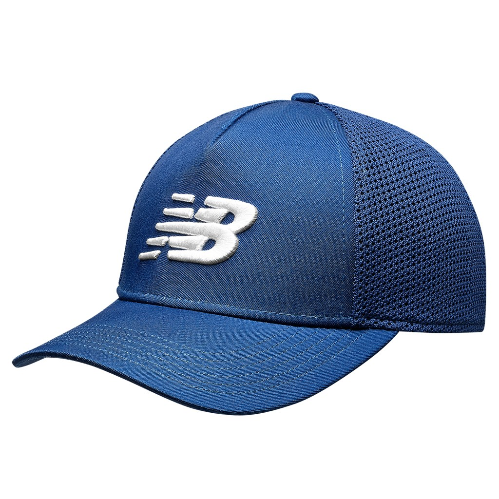 New Balance - NBF - Team Trucker Cap - captain blue/white