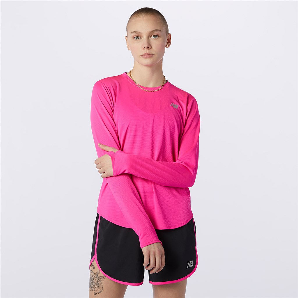 New Balance - W Accelerate Long Sleeve - pink glo