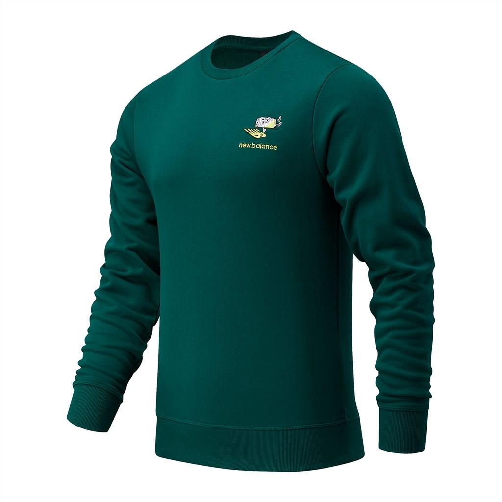 New Balance - NB Athletics Minimize Crew - nightwatch green