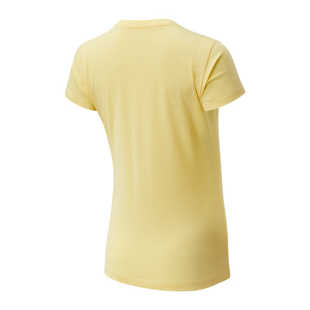 New Balance - W Essentials Stacked Logo Tee - lemon haze