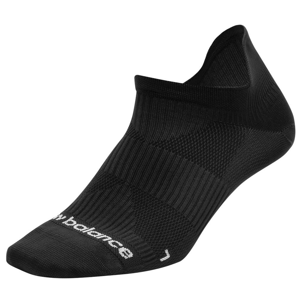 New Balance - Run Foundation Flat Knit No Show Tab 1 Pair - black