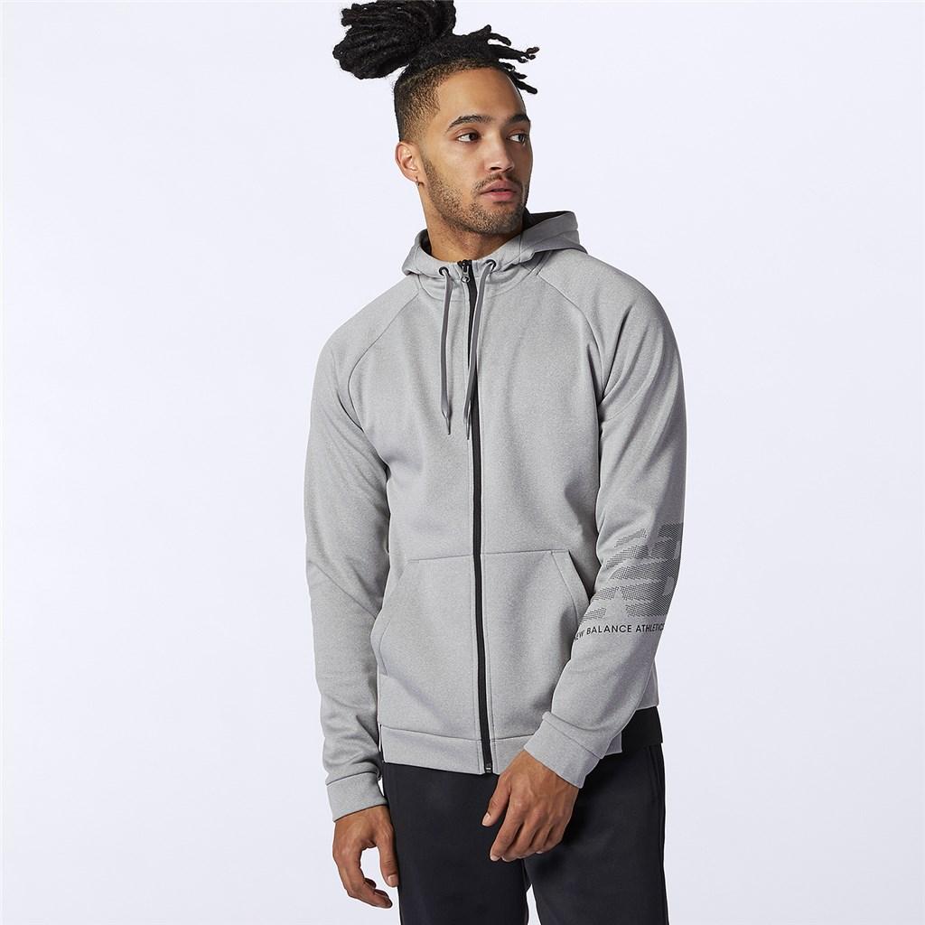New Balance - Tenacity Fleece Full Zip Hoodie - athletic grey