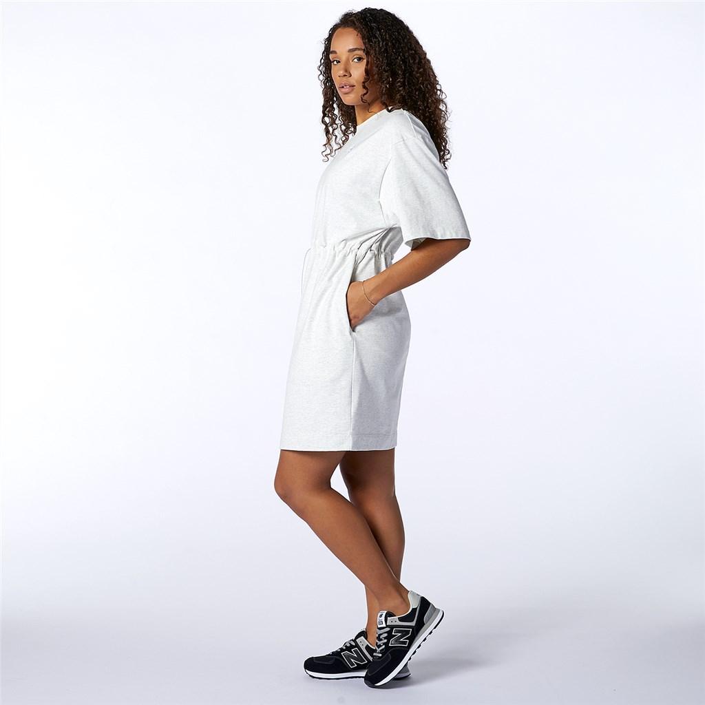 New Balance - W NB Athletics T-Shirt Dress - sea salt heather