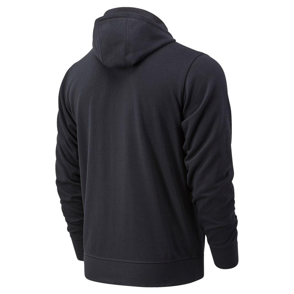 New Balance - Essentials Stacked Full Zip Hoodie - black