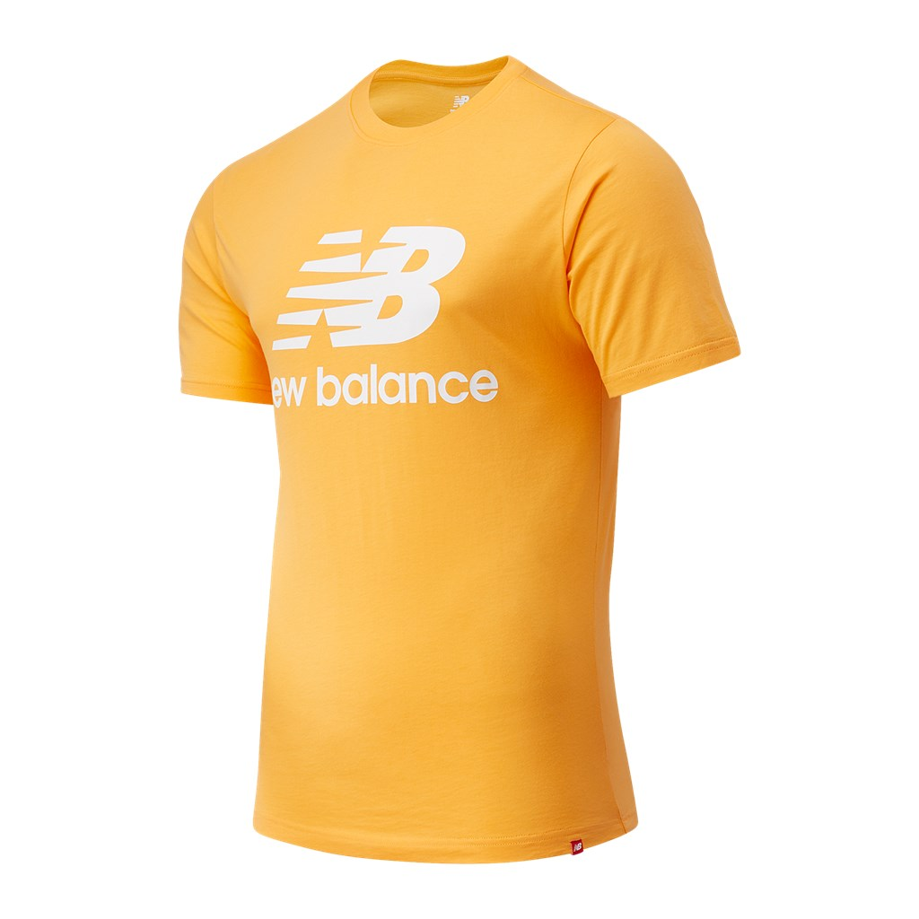 New Balance - Essentials Stacked Logo T - habanero