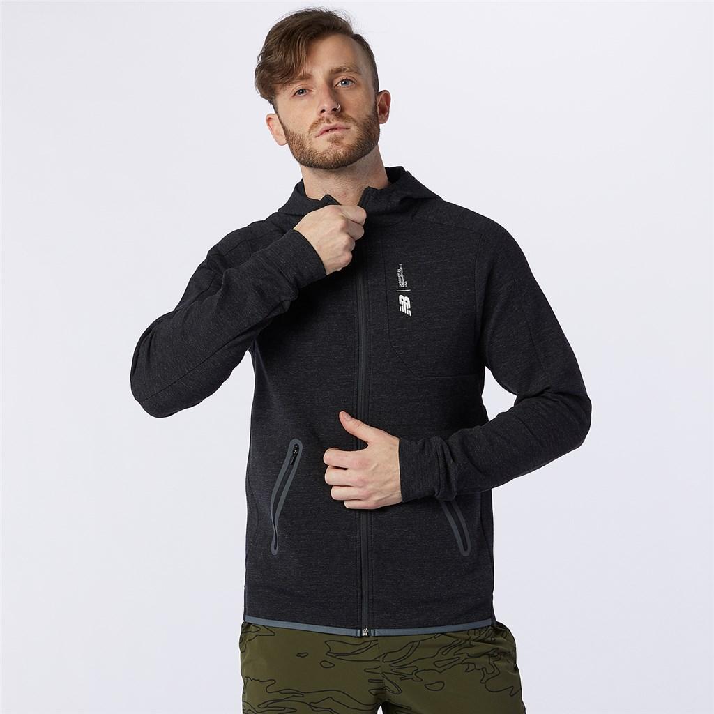 New Balance - Fortitech Fleece Full Zip - black heather