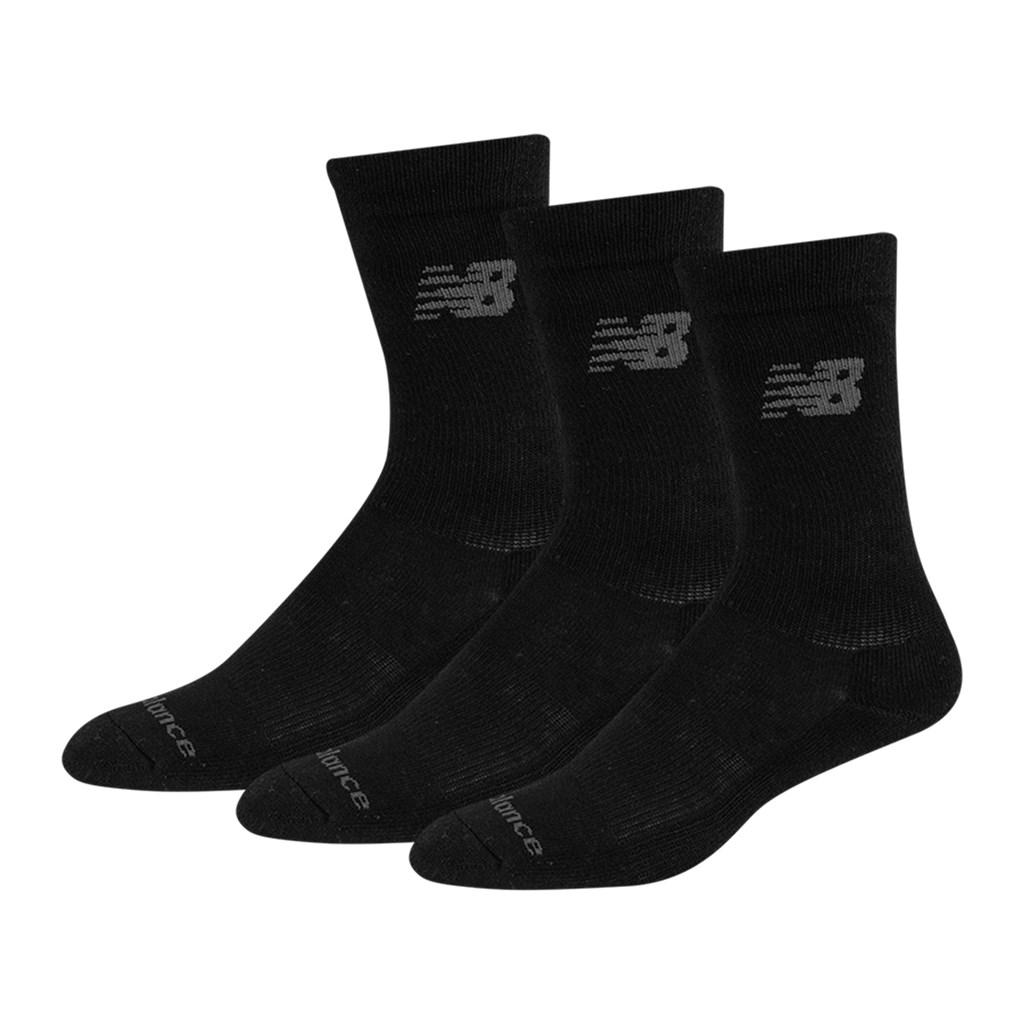 New Balance - NB PF Cotton Cushioned Crew Socks 3 Pair - black