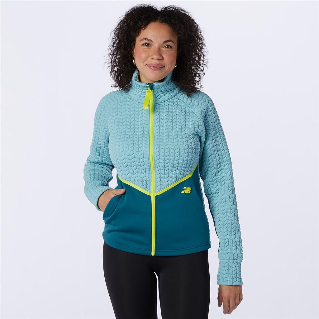 New Balance - W NBHeat Loft Athletic Jacket - storm blue