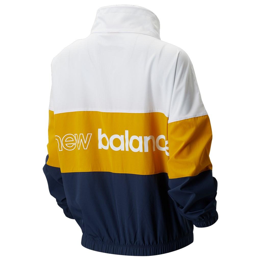 New Balance - W NB Athletics Windbreaker - natural indigo/varsity gold