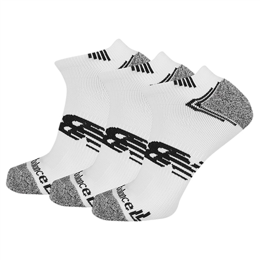 New Balance - NB No Show Run Sock 3 Pair - white