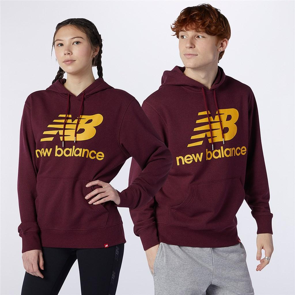 New Balance - Essentials Stacked Logo PO Hoodie - garnet heather