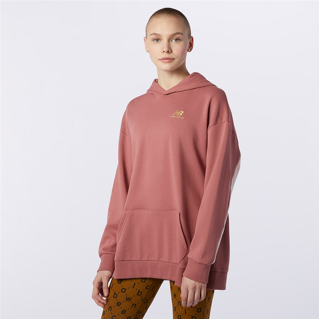New Balance - W NB Athletics Higher Learning Hoodie - washed henna