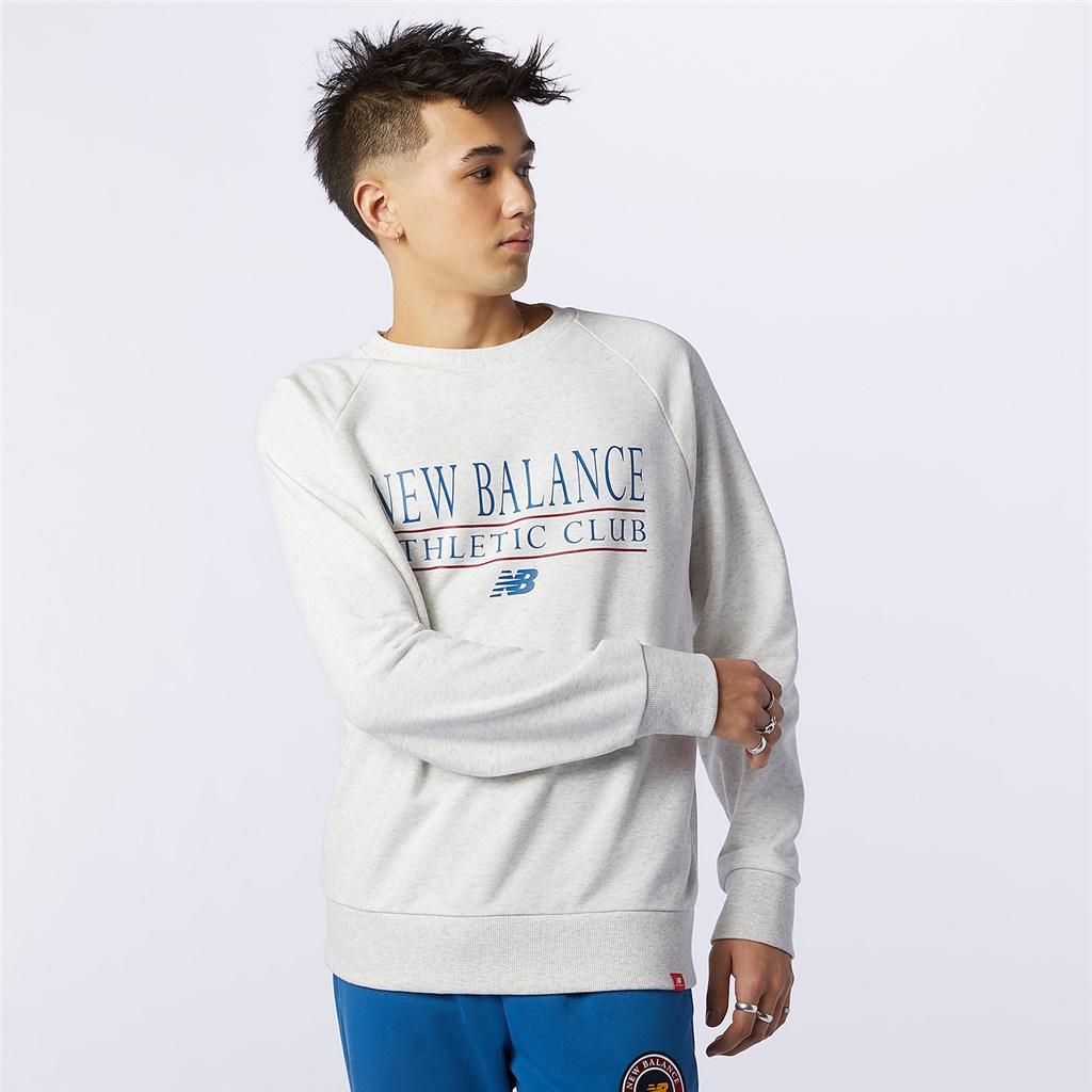 New Balance - NB Essentials Athletic Club Crew - sea salt heather