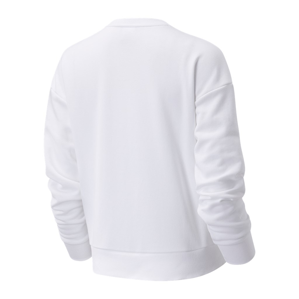 New Balance - W NB Essentials Botanical Crew Fleece - white