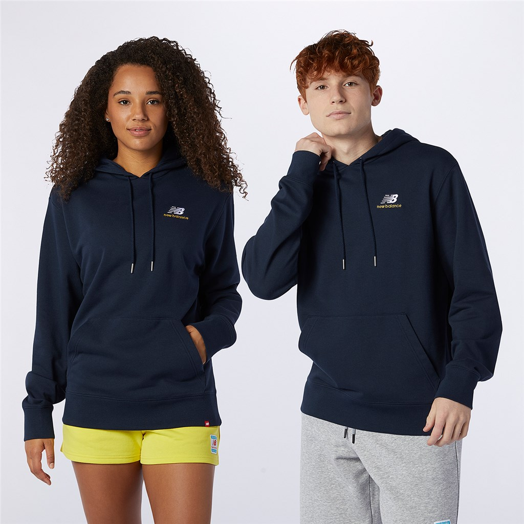 New Balance - NB Essentials Embroidered Hoodie - eclipse