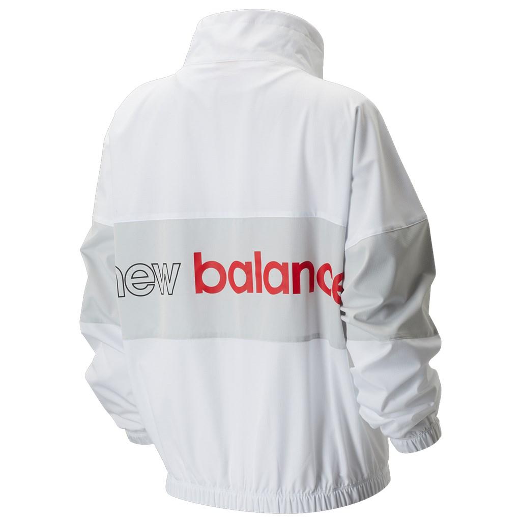 New Balance - W NB Athletics Windbreaker - white/summer fog