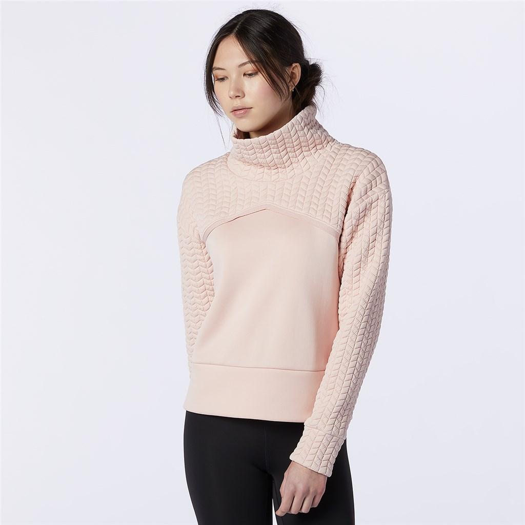 New Balance - W NBHeat Loft Pullover - oyster pink