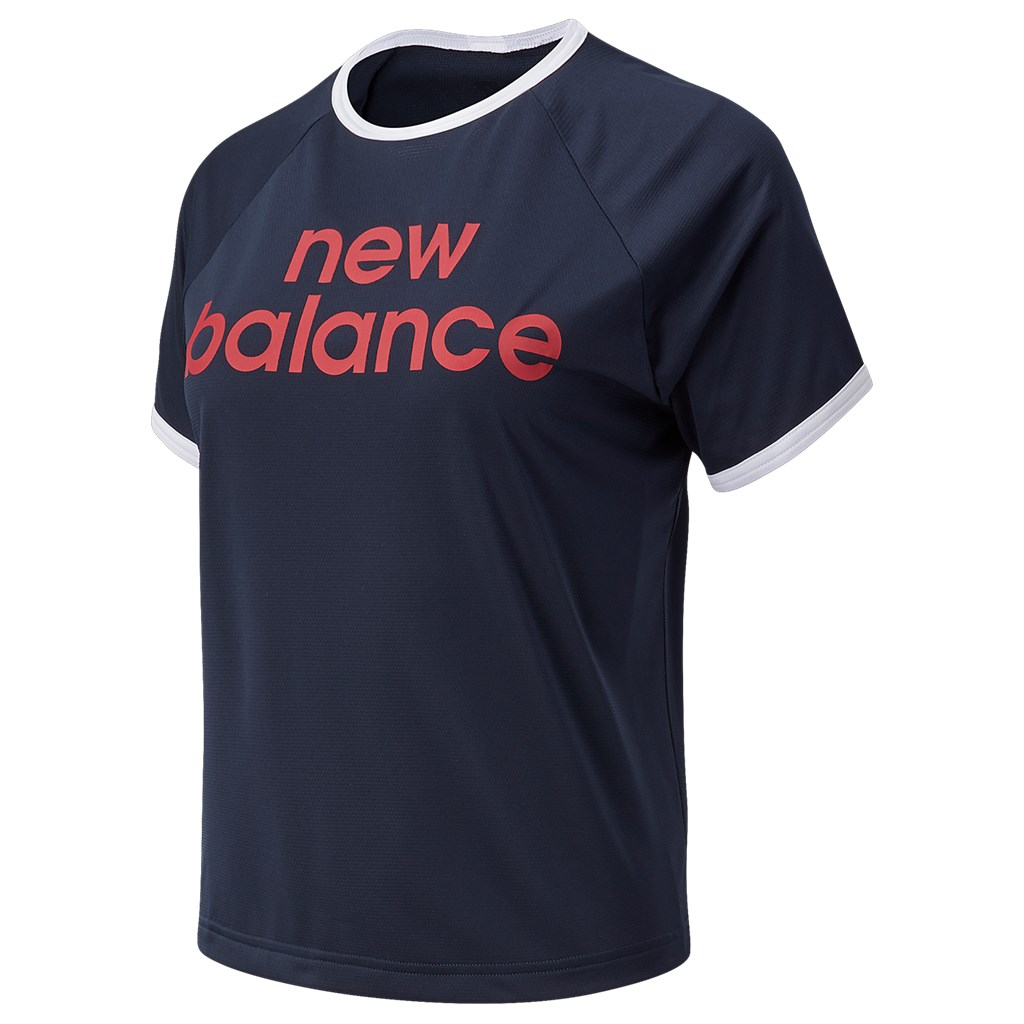New Balance - W Achiever Graphic High Low Tee - eclipse