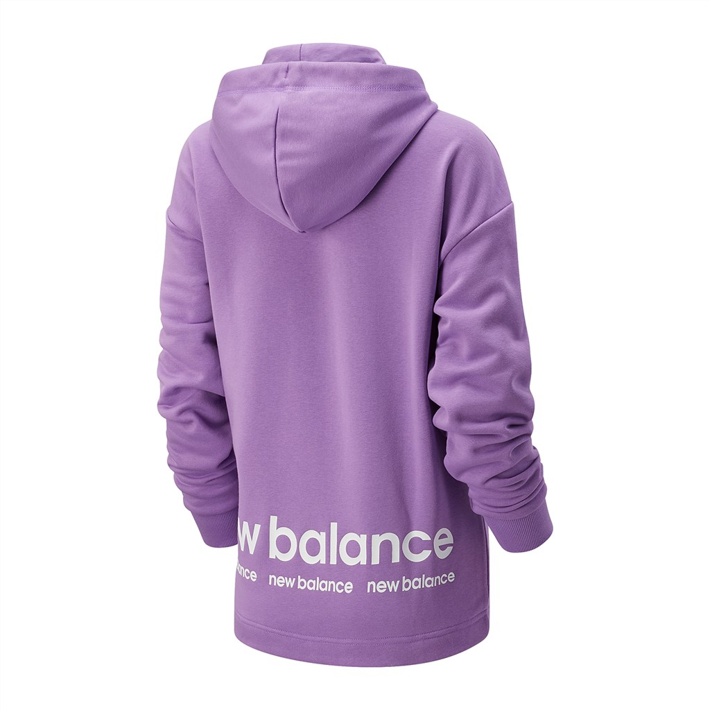 New Balance - W NB Essentials ID Hoodie - heliotrope