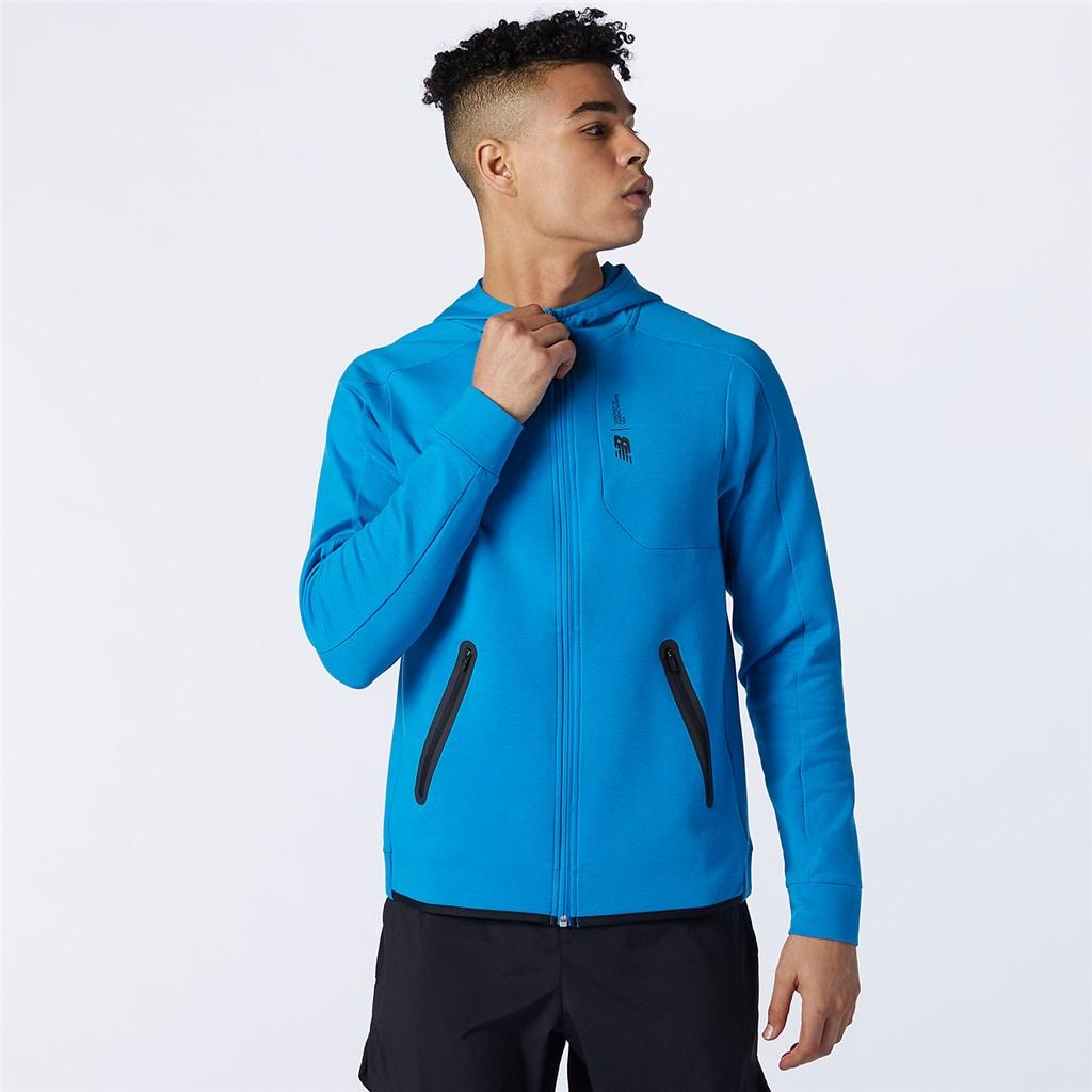 New Balance - Fortitech Fleece Full Zip - wave blue heather