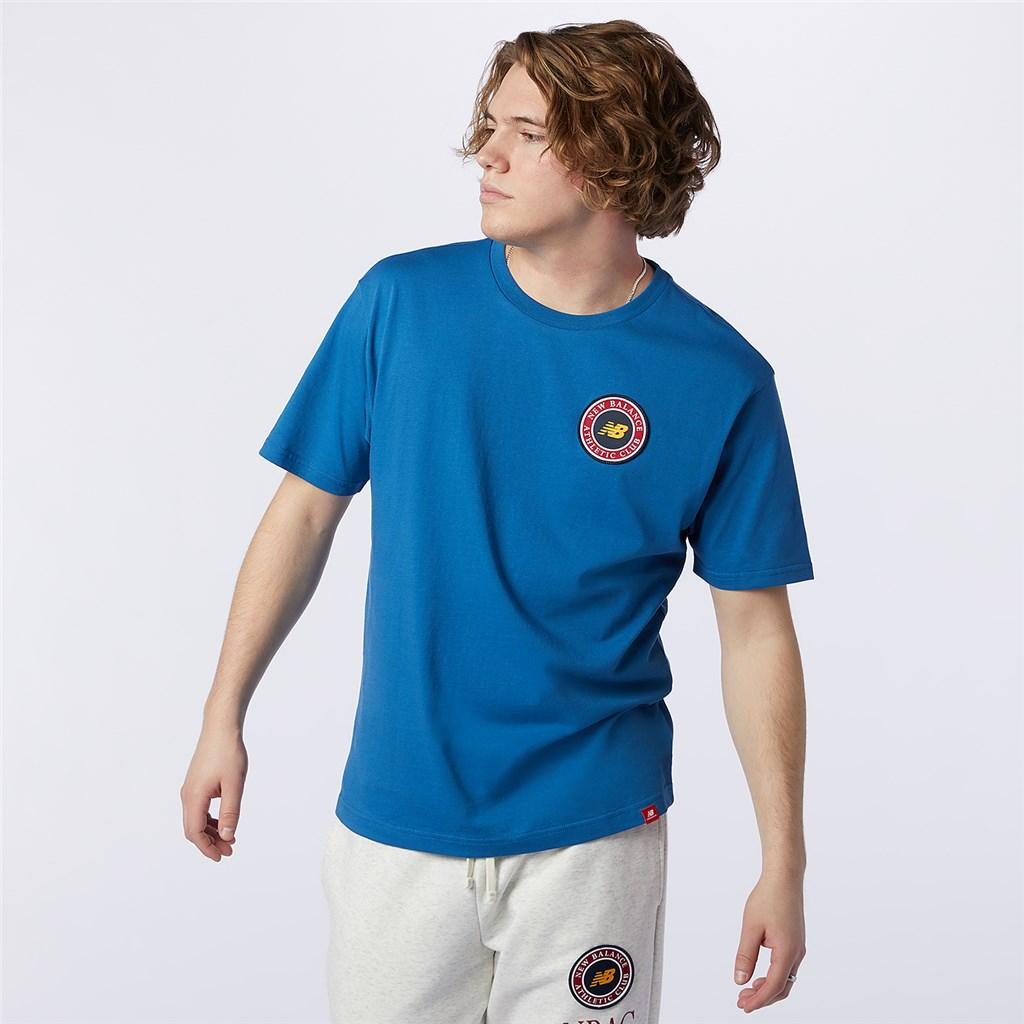 New Balance - NB Essentials Athletic Club Logo Tee - oxygen blue