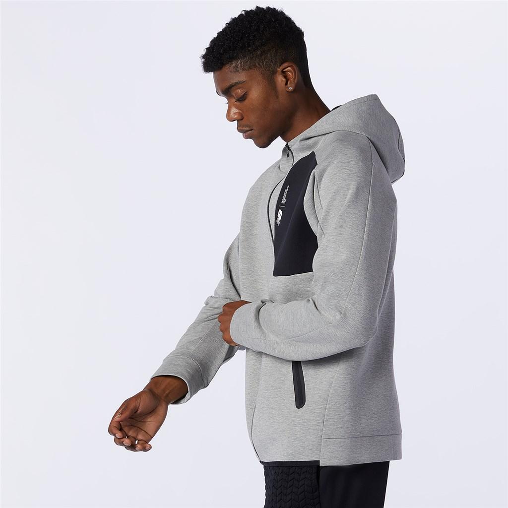 New Balance - Fortitech Fleece Blocked Full Zip - athletic grey
