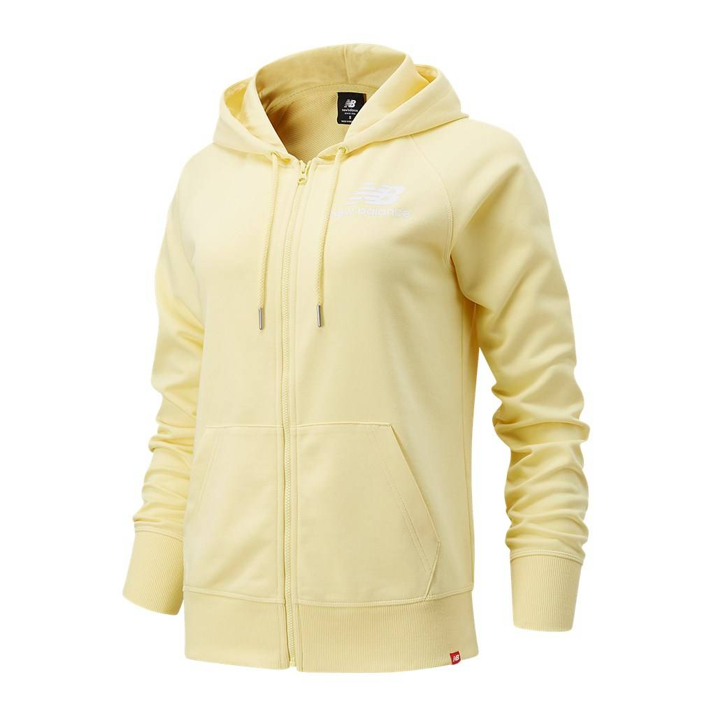 New Balance - W Essentials FZ Hoodie - lemon haze