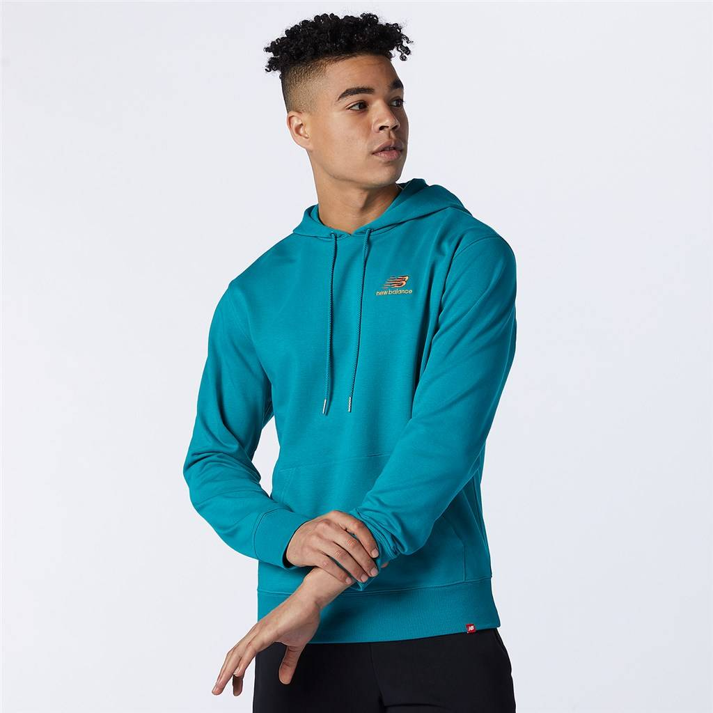 New Balance - NB Essentials Embroidered Hoodie - team teal