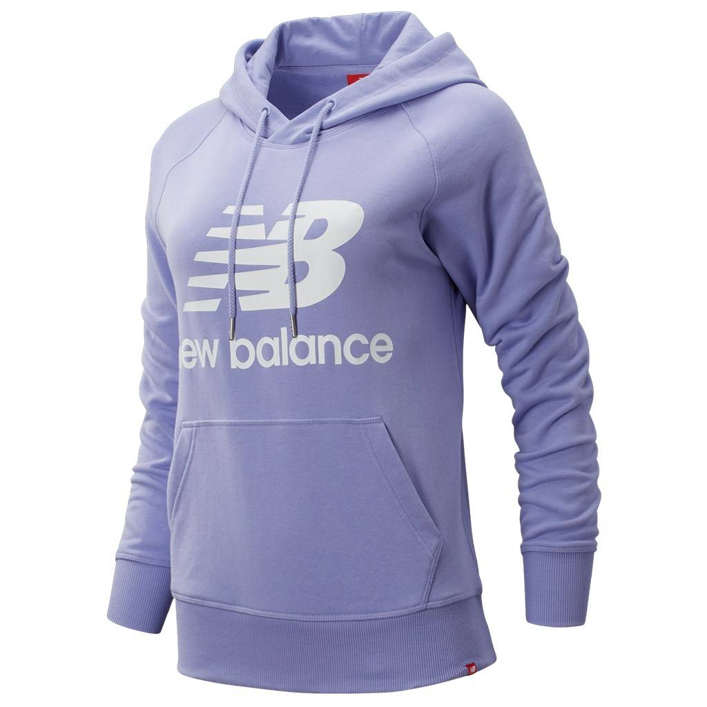 New Balance - W Essentials Pullover Hoodie - clear amethyst