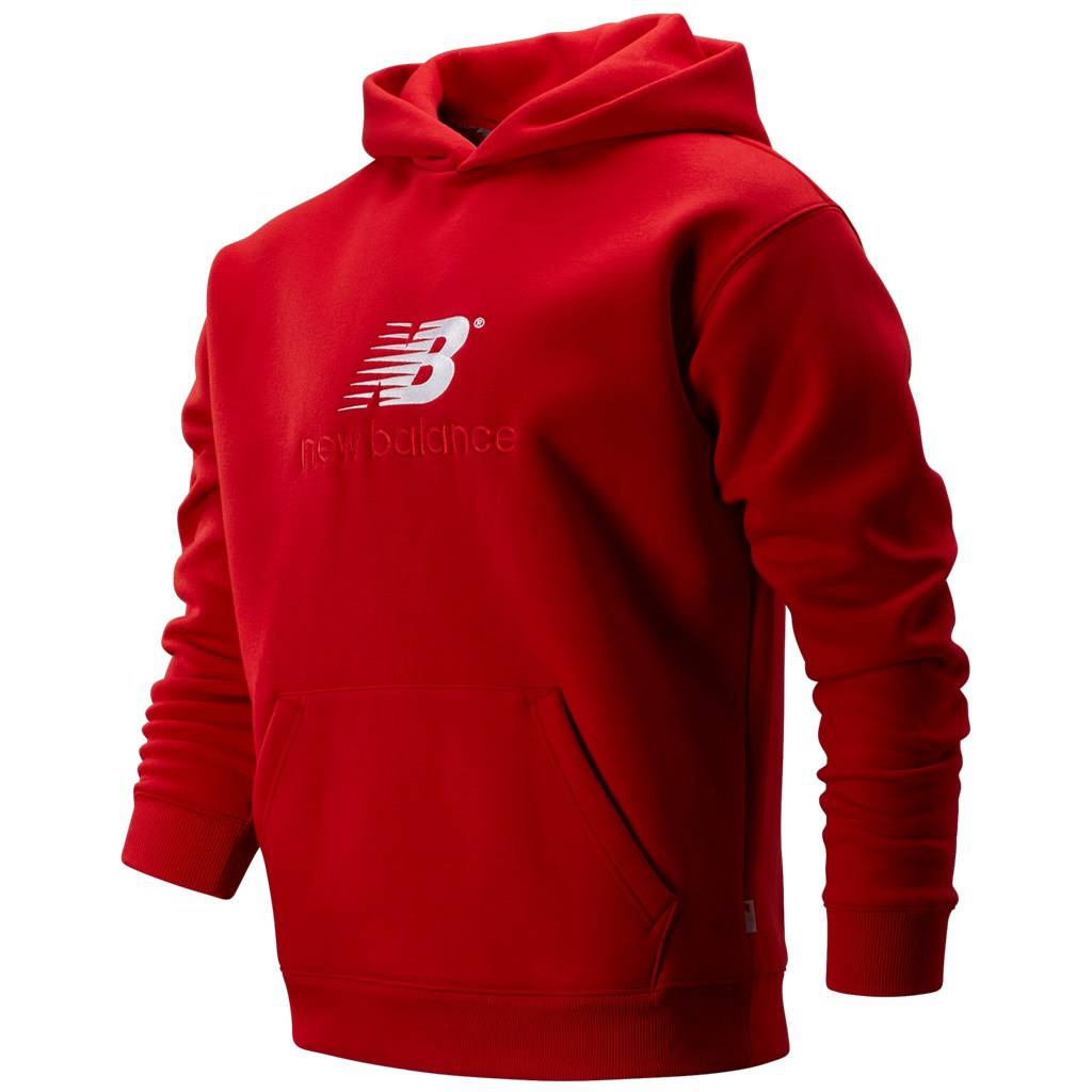 New Balance - NB  Athletics Premium Archive Hoodie - team red print