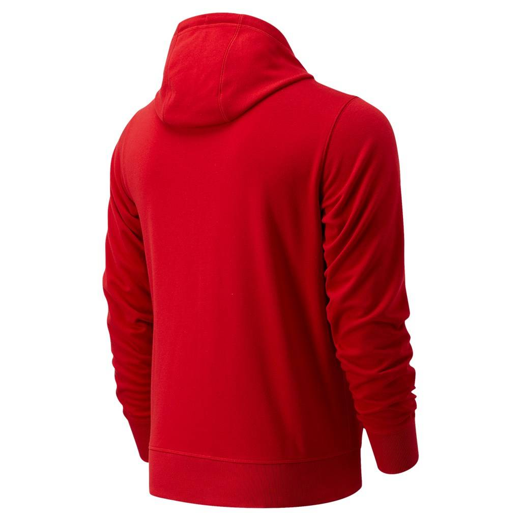New Balance - Essentials Stacked Full Zip Hoodie - team red (REP)