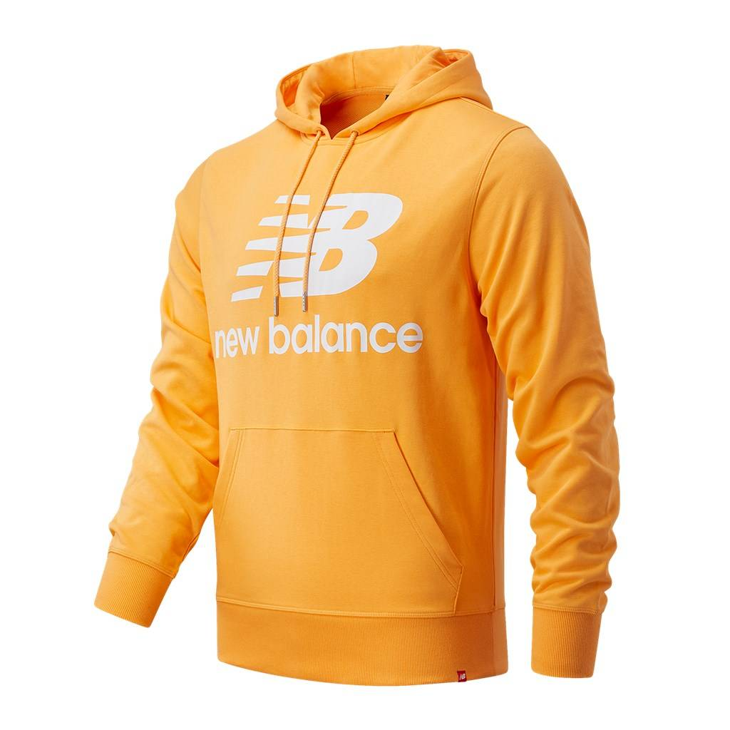New Balance - Essentials Stacked Logo PO Hoodie - habanero