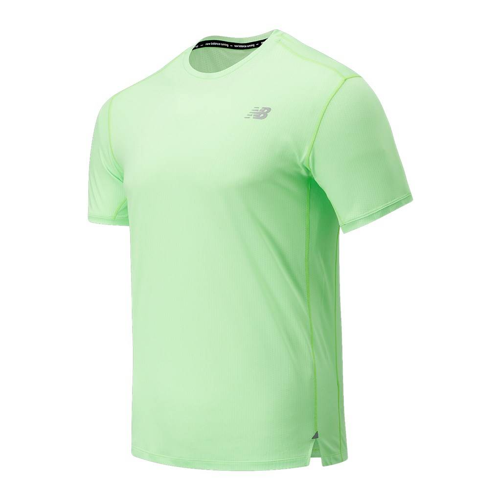 New Balance - Impact Run SS - energy lime heather