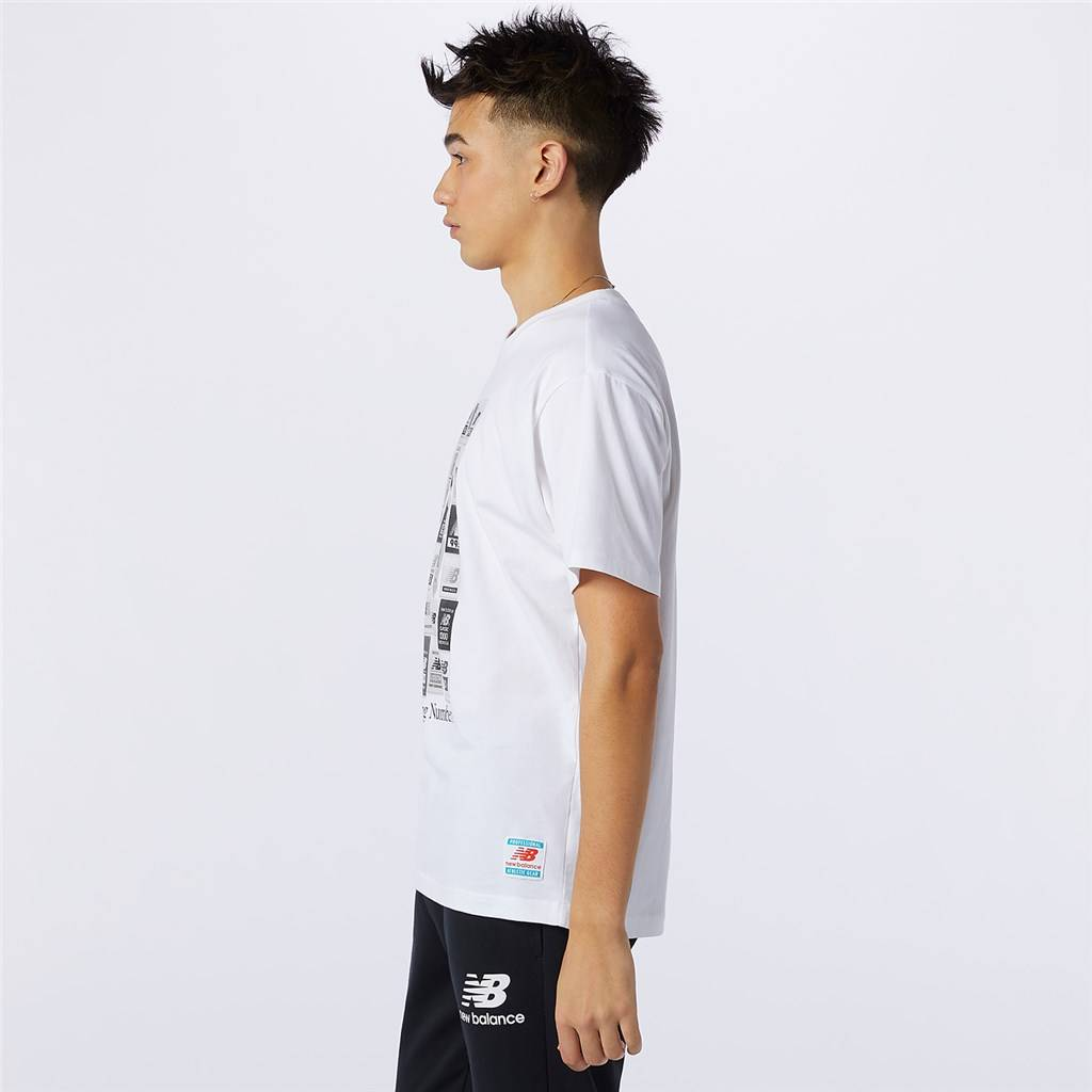 New Balance - NB Essentials Brand Label Pack Tee - white