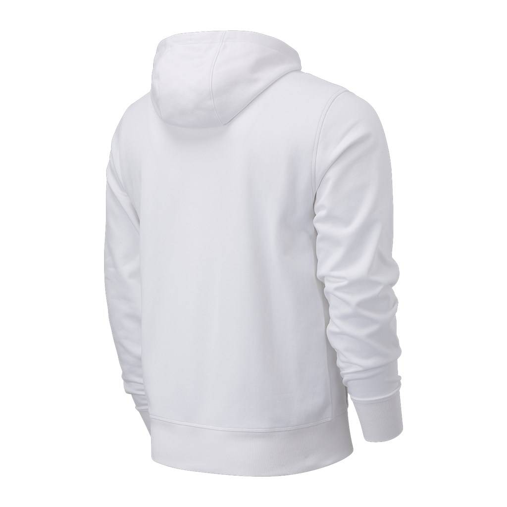 New Balance - Essentials Stacked Logo PO Hoodie - white