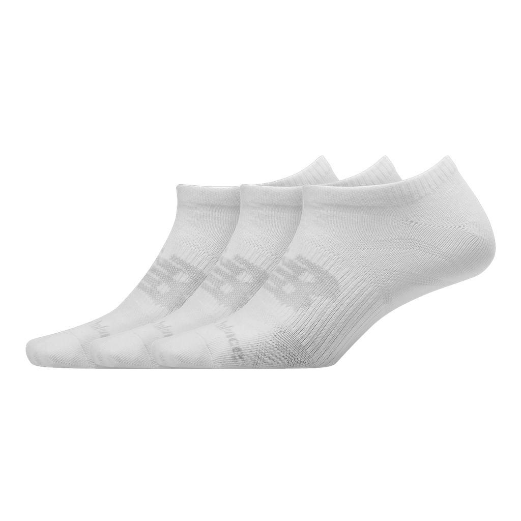 New Balance - NB Unisex Flat Knit No Show Sock 3 Pair - white