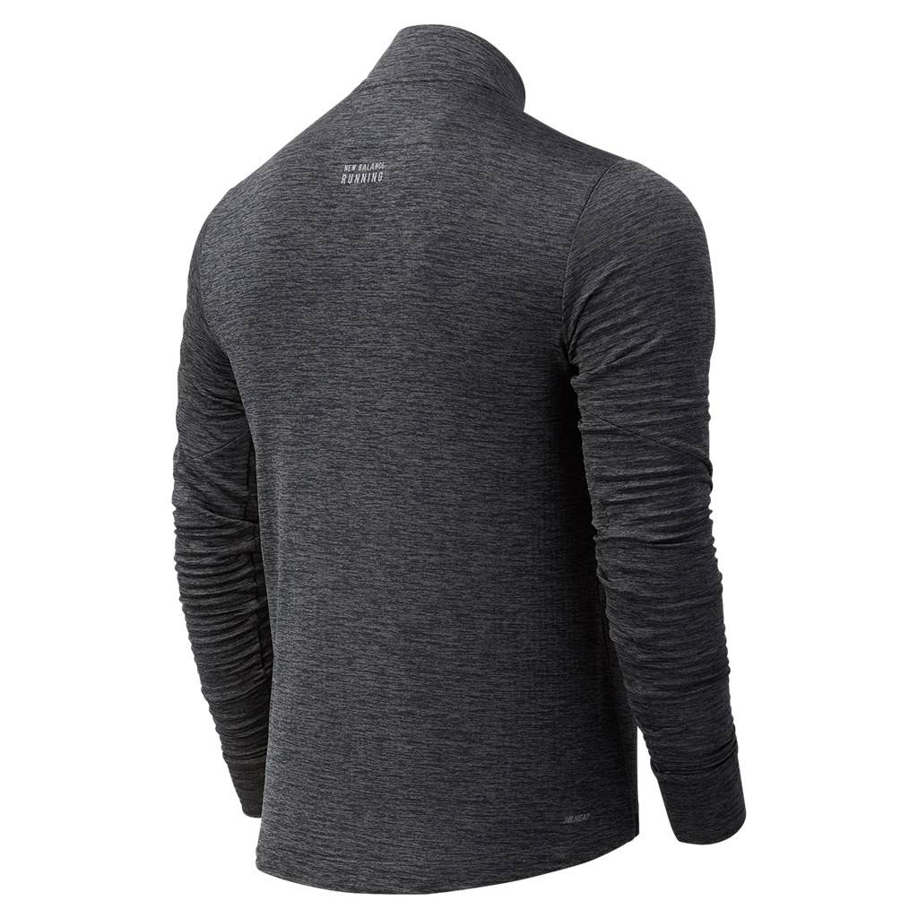 New Balance - Impact Run Grid Back Half Zip - heather charcoal
